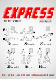 Express workout works chest triceps biceps quads cardiovascular system fitness workout - Best cardio equipment for small spaces property ...