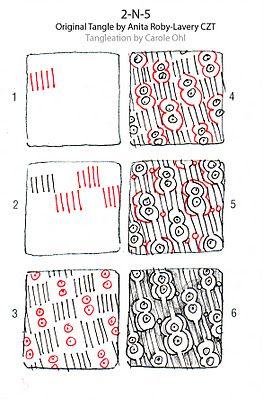 2-N-S tangle by Carol Ohl, Certified Zentangle Teacher