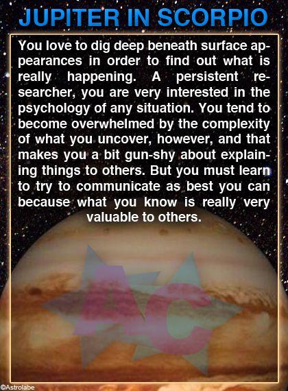 jupiter in scorpio vedic astrology