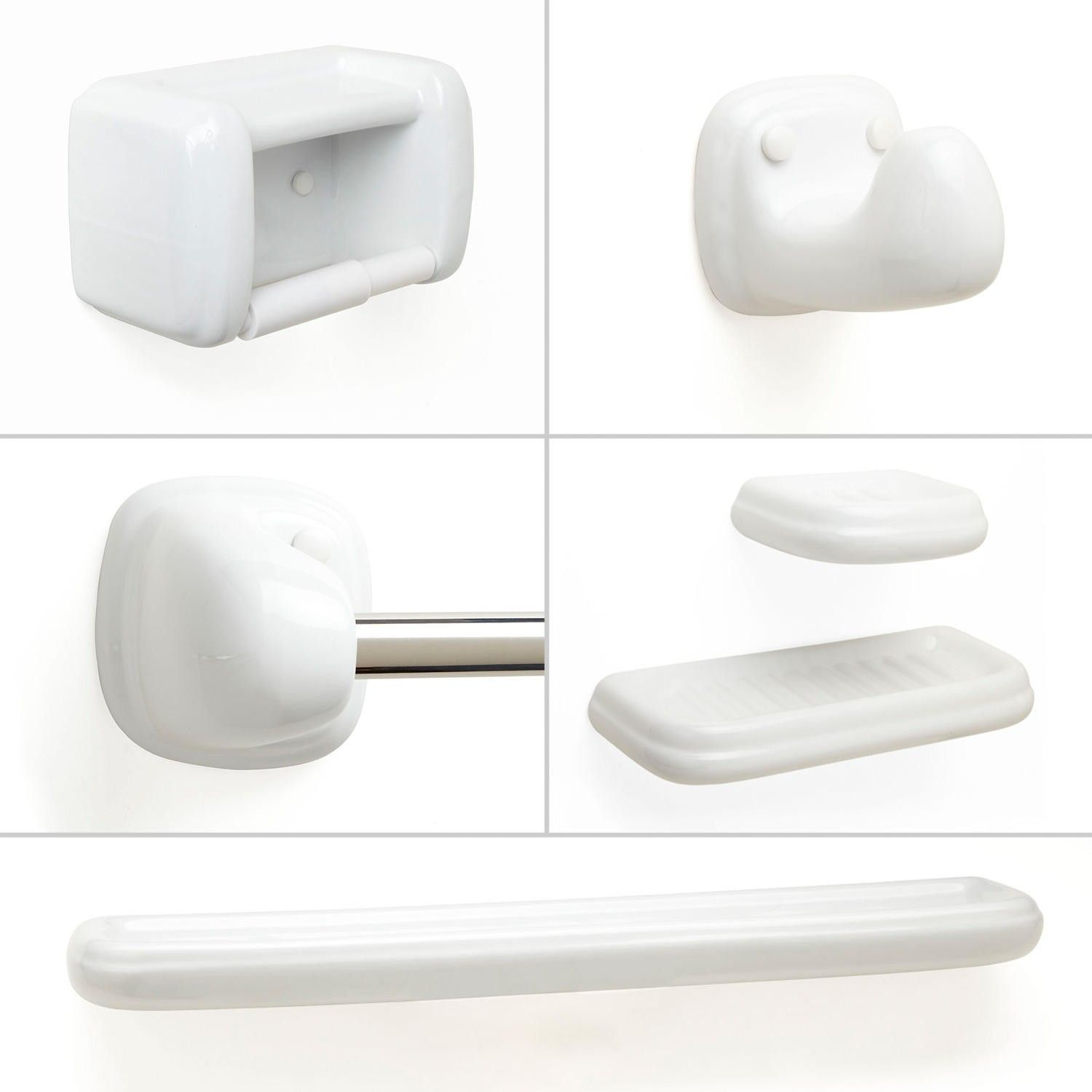 Joel 6-Piece Bathroom Accessory Set - White | Bathroom accessories ...