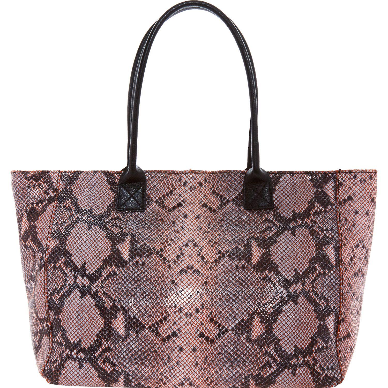 Laura Di Maggio Pink Snake Effect Tote Bag Tk Ma