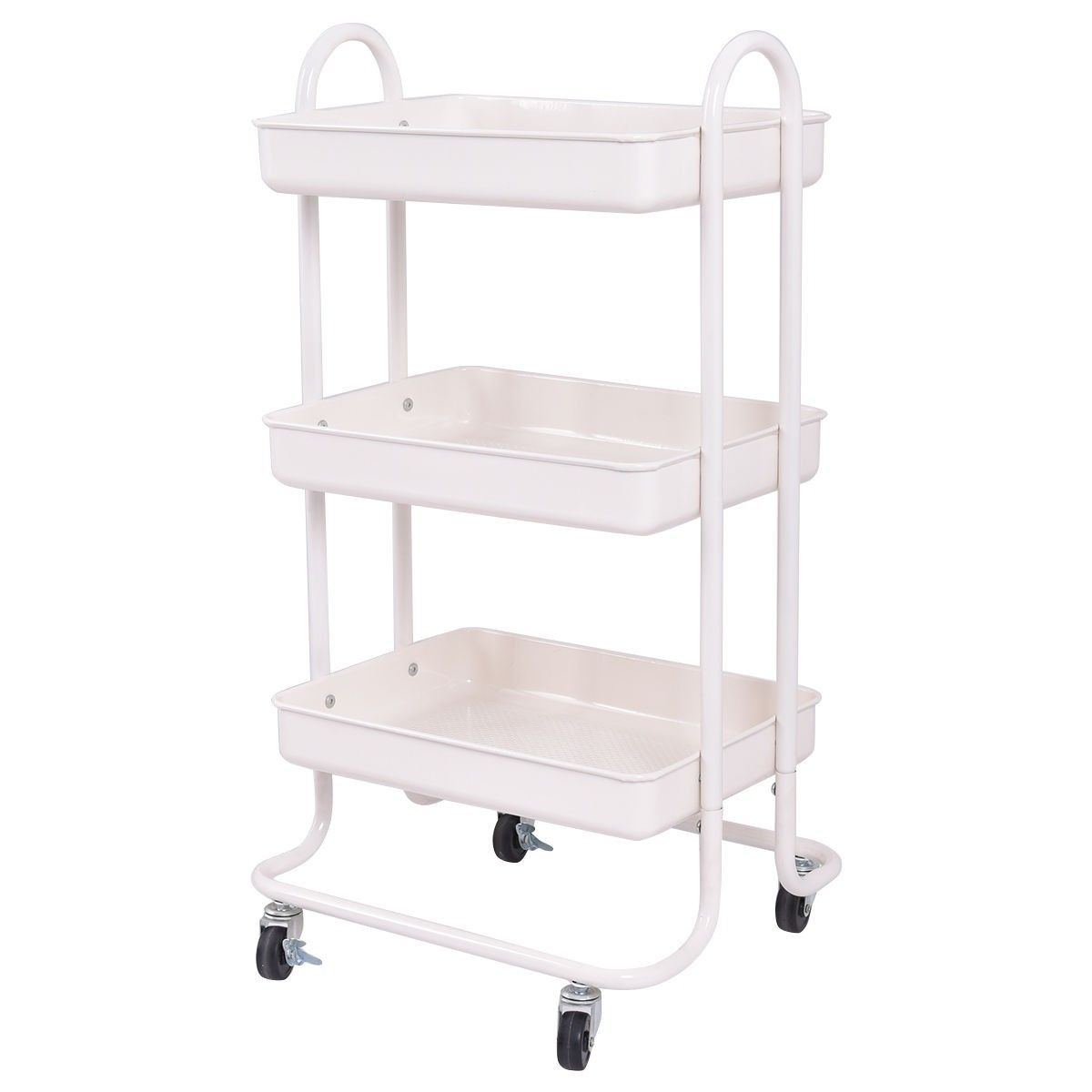 Tier steel rolling kitchen trolley cart storage kitchen serving