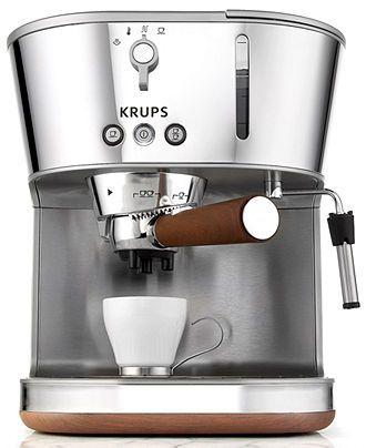 Krups Xp4600 Espresso Machine Silver Art Coffee Tea Espresso Kitchen Macys Bridal And Wedding Registry Macysd Espresso Coffee Maker Espresso Machine