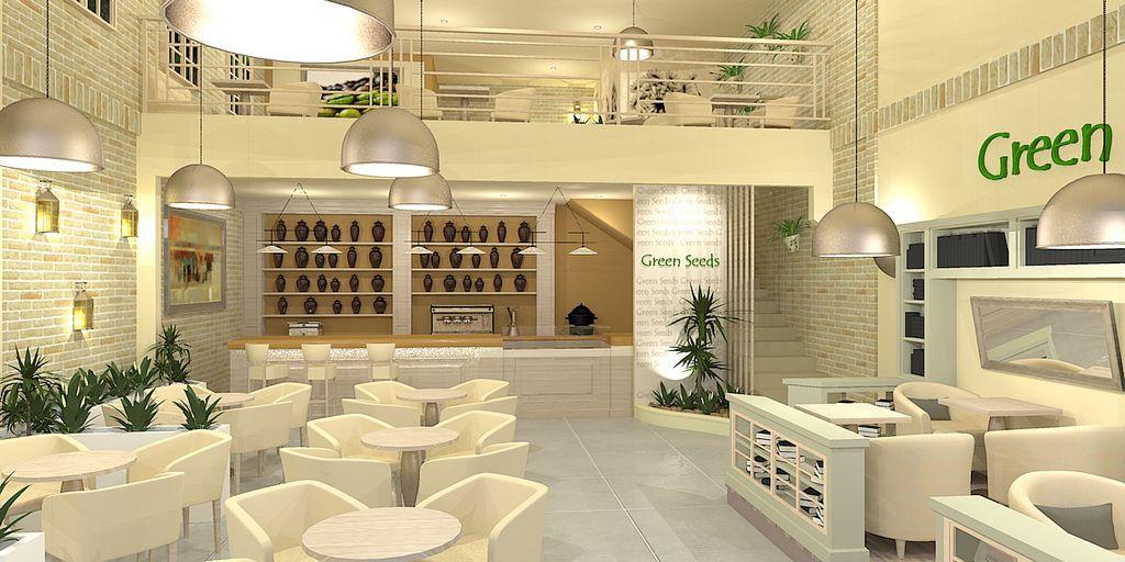 cafe interior design green google search
