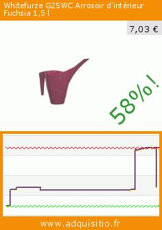 Whitefurze G25WC Arrosoir d'intérieur Fuchsia 1,5l (Jardin). Réduction de 58%! Prix actuel 7,03 €, l'ancien prix était de 16,93 €. https://www.adquisitio.fr/whitefurze/g25wc-arrosoir-dint%C3%A9rieur-3