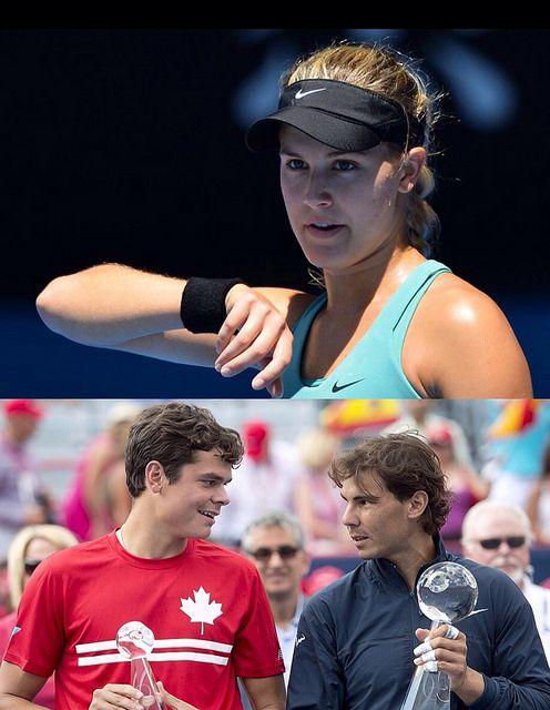 Genie Bouchard Genies Roger Federer Tennis