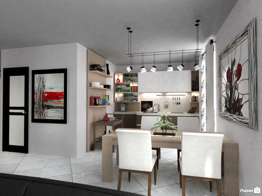 Kitchen And Dining Room Interior Planner 5d With Images