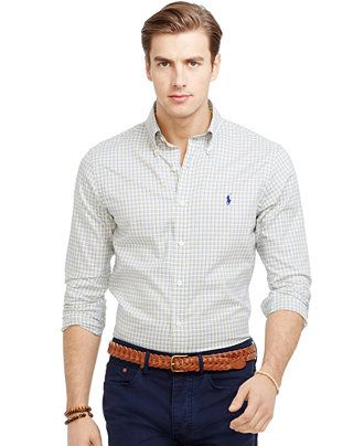 Polo Ralph Lauren Slim-Fit Checked Oxford Shirt - Casual Button-Down Shirts  -