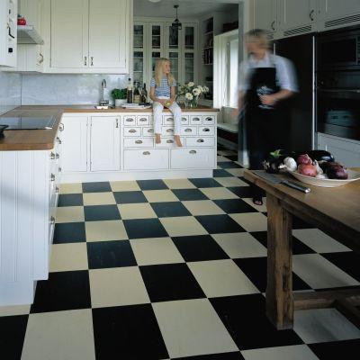 Marmoleum Black White Tiles Flooring Marmoleum Marmoleum Floors