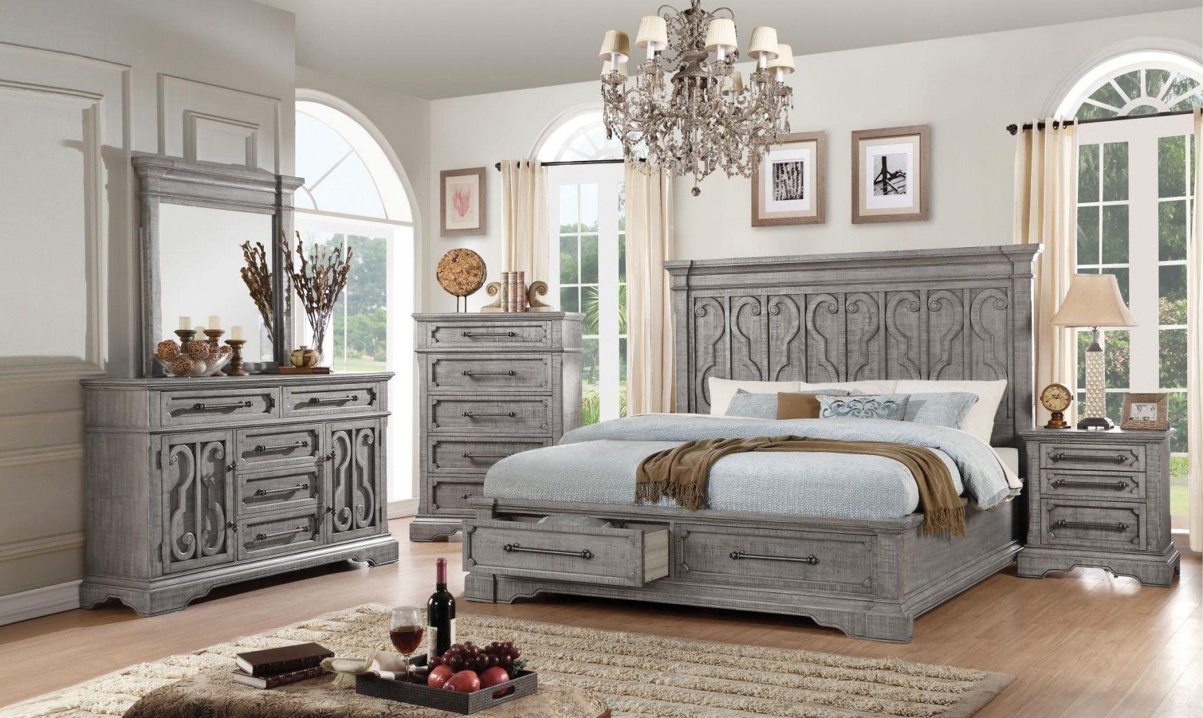 27100 Salvaged Natural Finish Bedroom set Acme Artesia
