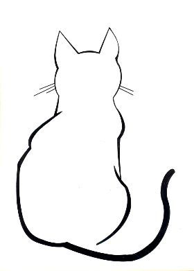 Cat Line Art Cat Outline Cat Outline Tattoo Simple Cat Drawing
