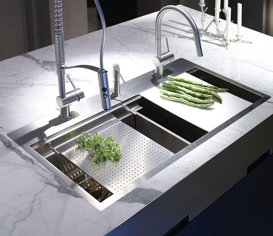 kitchen faucets merge italian design