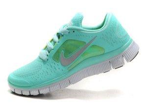 UN9F Damen Nike Free Run 3 Mint Grün Tropical Twist