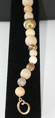 80s RUNWAY VOGUE STYLE OSCAR DE LA RENTA GOLD & STONE BEADS BRACELET - http://elegant.designerjewelrygalleria.com/oscar-de-la-renta/80s-runway-vogue-style-oscar-de-la-renta-gold-stone-beads-bracelet/