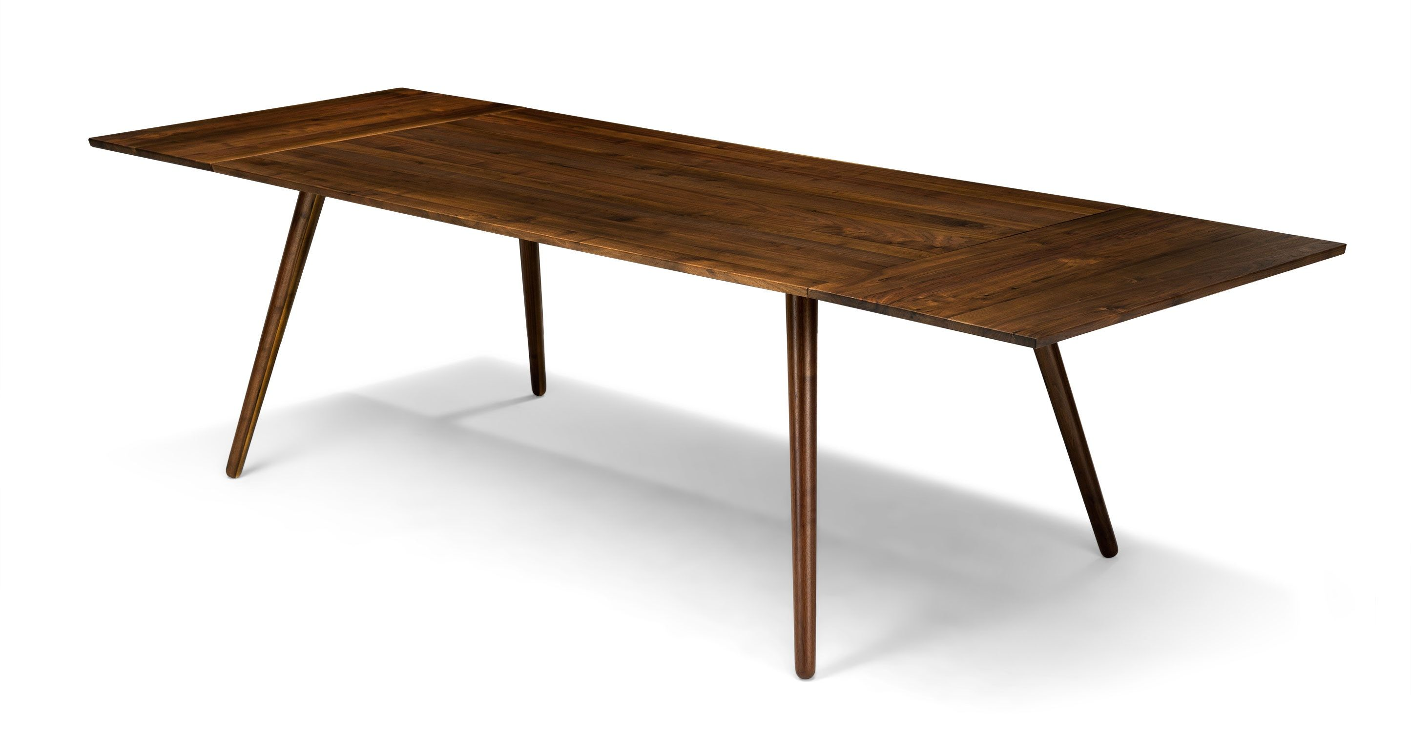 Extendable Dining Table 12 Person Walnut Wood  Article Seno Glamorous Walnut Dining Room Sets Design Inspiration