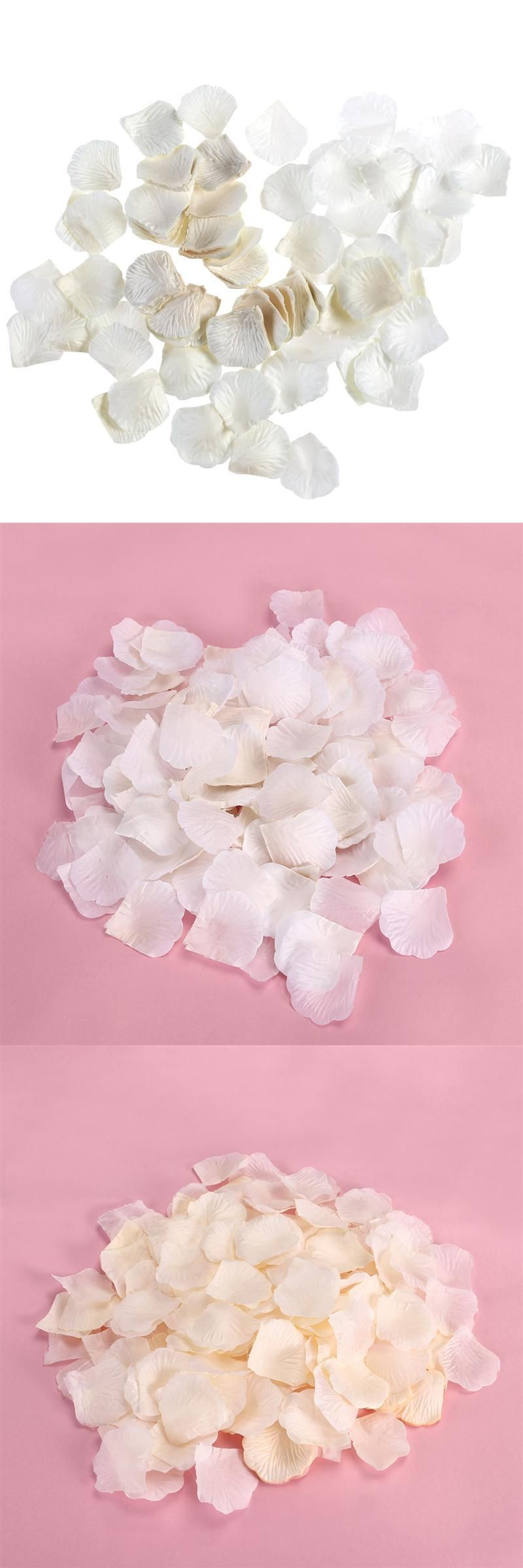 1000pcs Romantic Artificial Silk Rose Petals Proposal Wedding ...