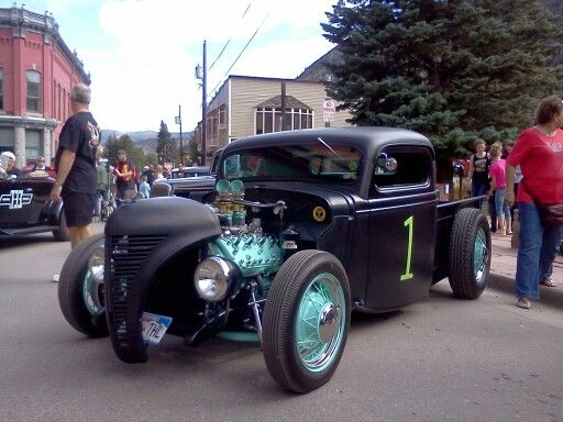Mike's sweet semigloss #1 flathead ford at the #HotRodHillClimb in #GeorgetownColoado