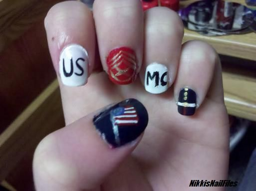 Us Marine Nail Design My Marine Pinterest Marine Nails