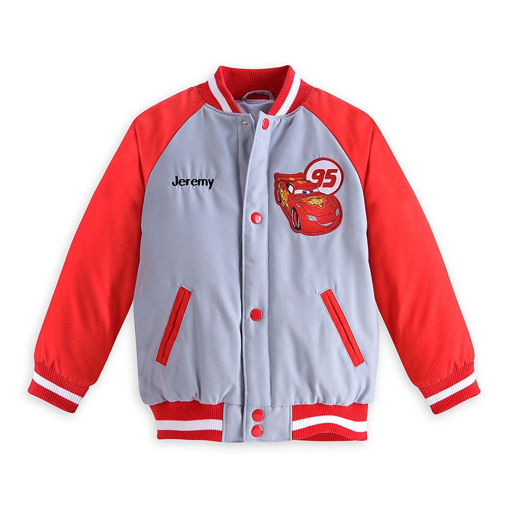 Lighting Jacket: Lightning McQueen Varsity Jacket For Boys