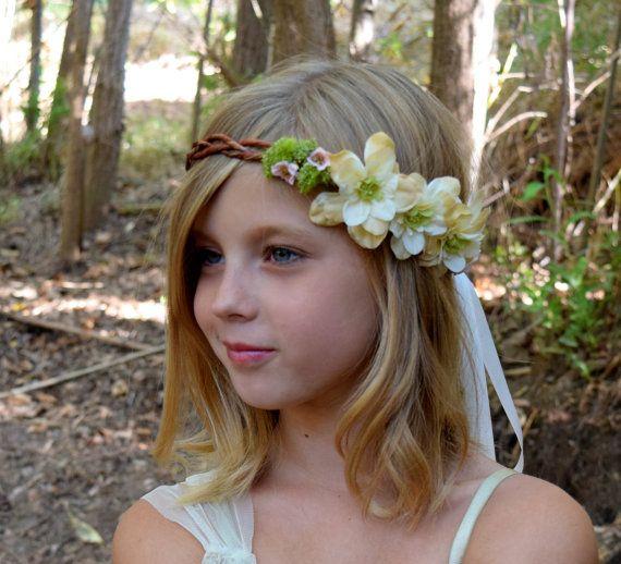 Budding Beauty Flower Girl Wreath