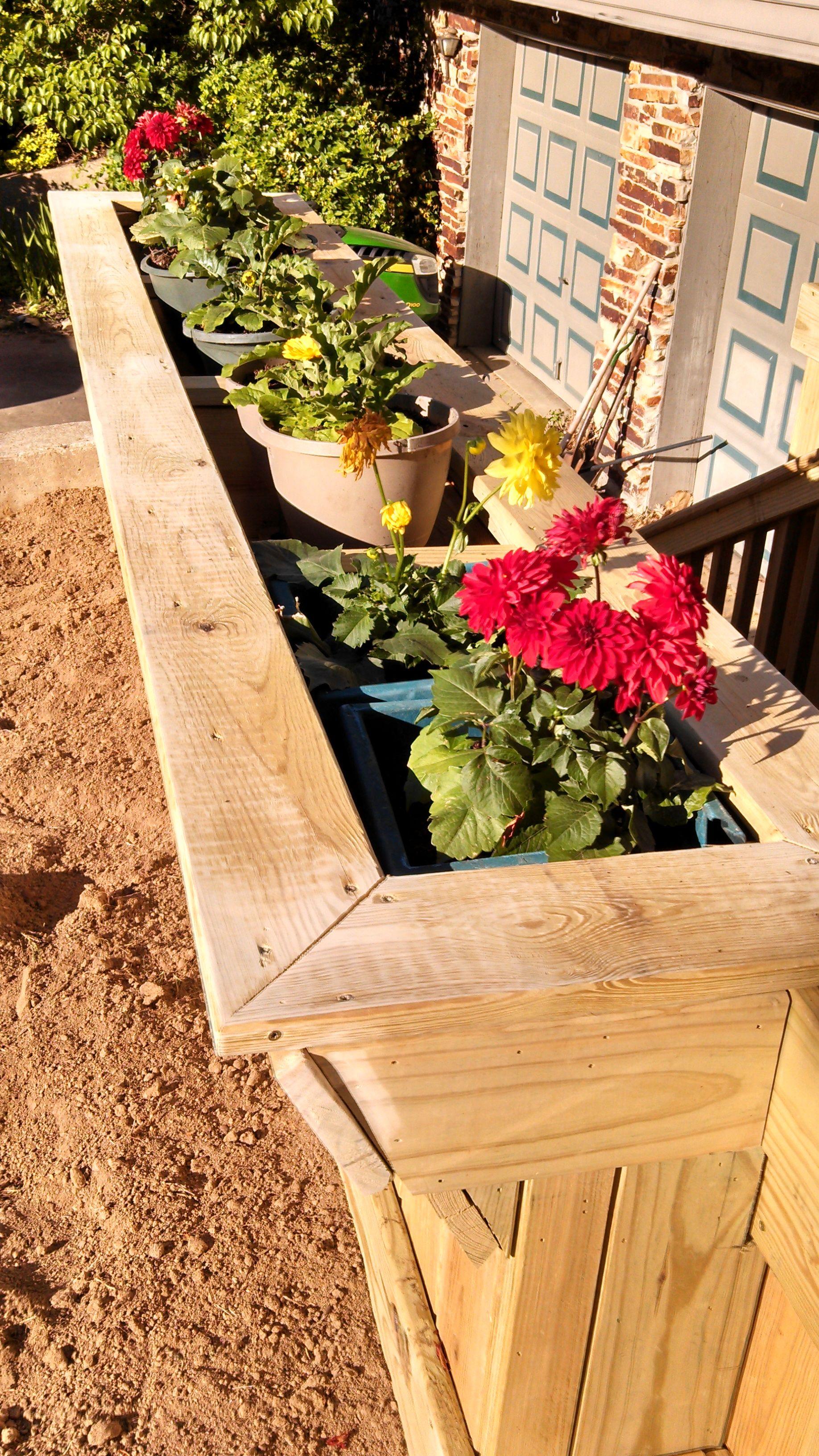 Custom deck 1 built in flower box outdoor decor