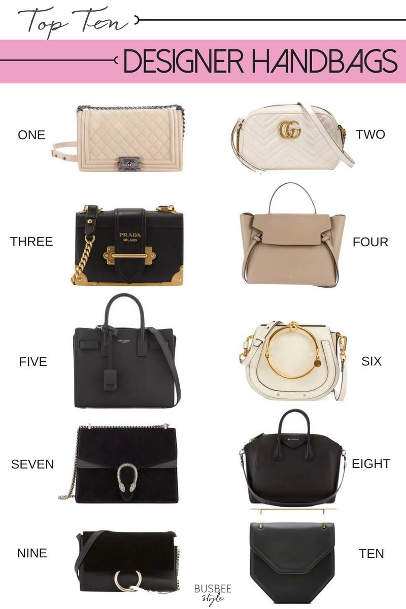 Top Ten Designer Handbags