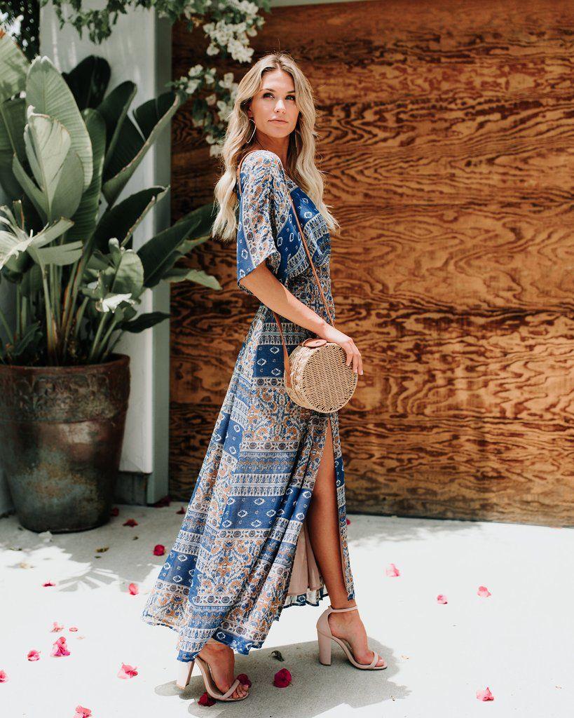 32e2b1515cf Cornflower Wrap Kimono Maxi Dress in 2019
