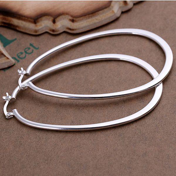 925-sterling-silver oorbellen, 925 sieraden verzilverd mode-sieraden, Flat u oorbellen E001/van cdmakuta duuammba