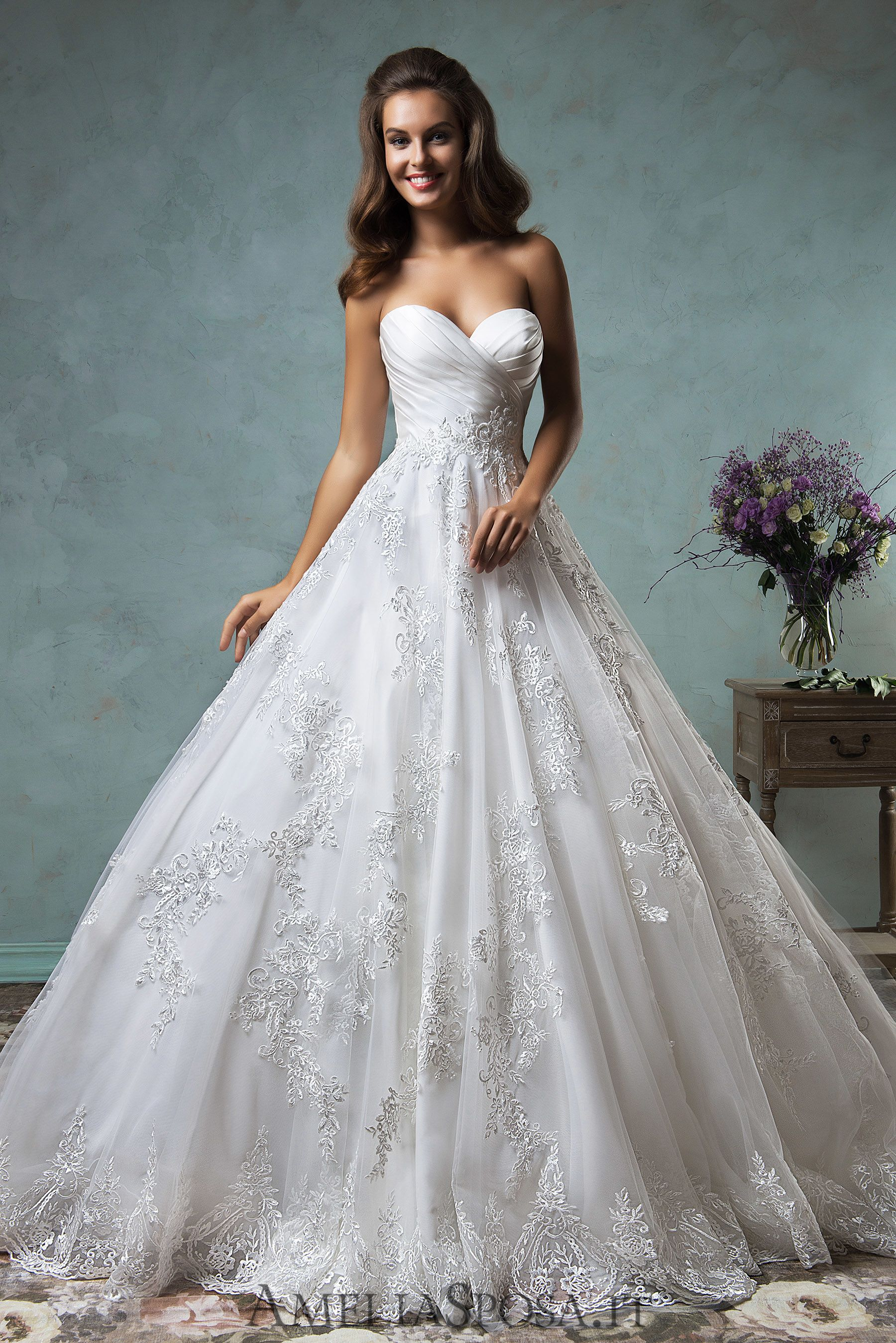Wedding Dress Deline, Silhouette: A-Line | Amelia Sposa collection ...