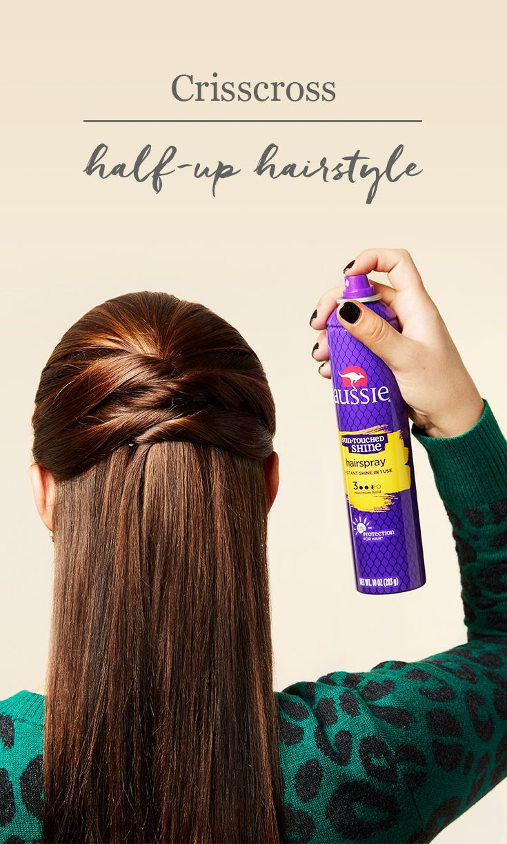 Easy crisscross halfup hairstyle this busy morning hairdo is great