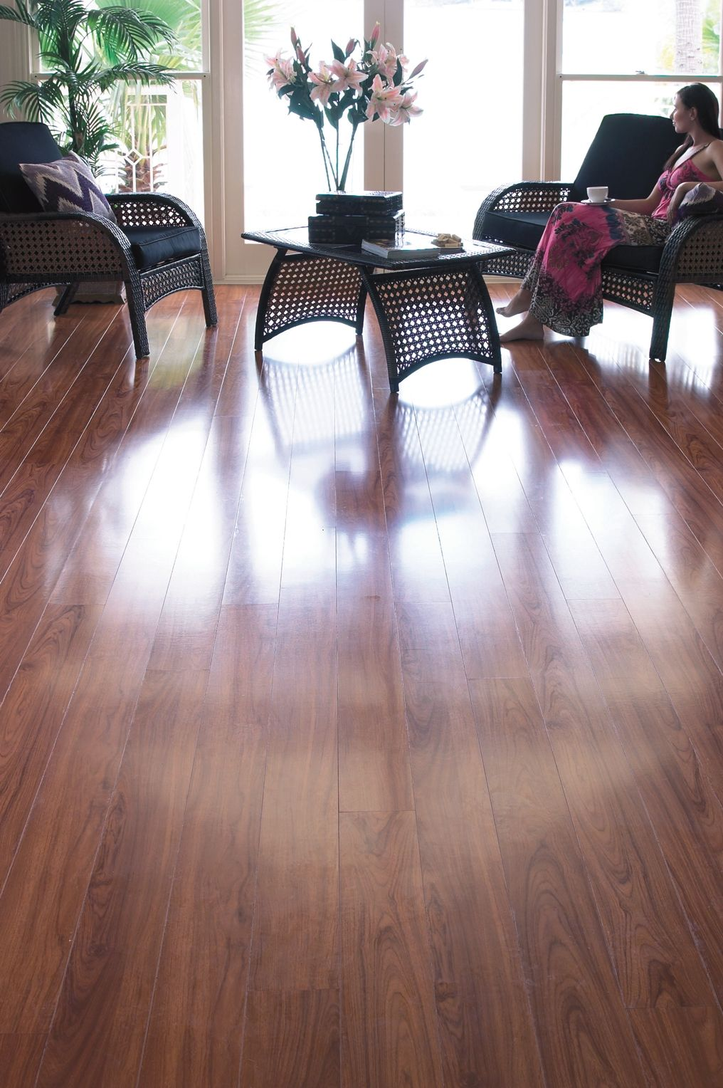 Timber Impressions  African Cherry  Laminate Flooring   Combines     Timber Impressions  African Cherry  Laminate Flooring   Combines realistic  print technology with a high