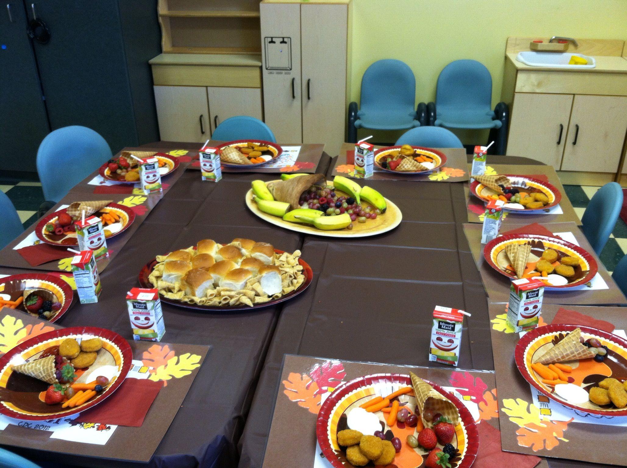 Preschooler Thanksgiving Lunch Dinner