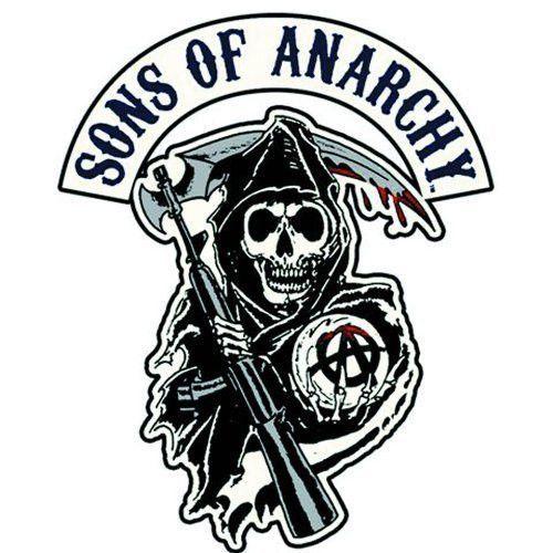 Sons Of Anarchy Reaper Logo Patch Modelos De Tatuagens Filhos Da Anarquia Ideias De Tatuagens