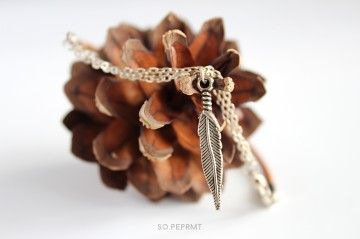 Pure Nature - Piórko  #sopeprmt #sopeppermint #jewelry #bracelet #feather #leather #nature #natural