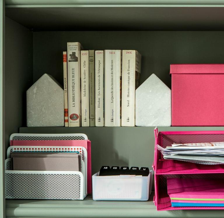 Bureau Bibliotheque Salon Rangement Livres Classeurs Serre Livres Cahier On Range Tout Trifold Bookends Decor