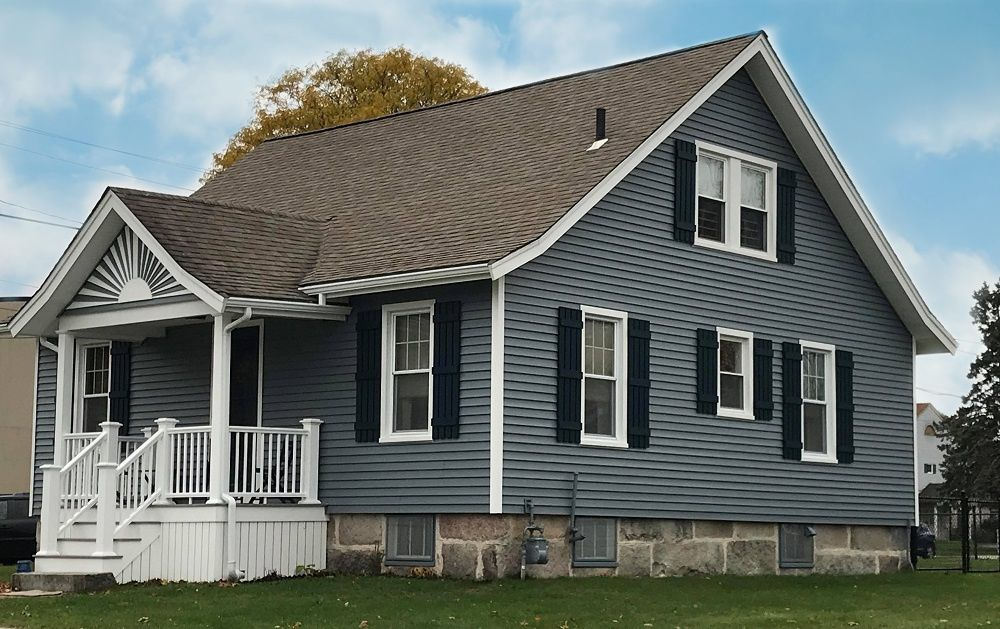 Carvedwood 44 Vinyl Siding Azek Porch New Bedford Ma Care Free Homes Cape Cod Ma Ri House Siding House Exterior Vinyl Siding House