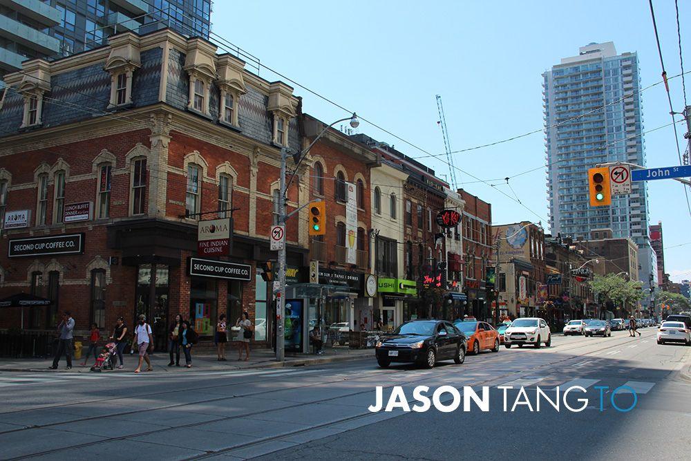 Restaurant row at King West Toronto