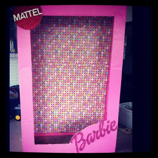 Life size Barbie box for a photo booth | Ideas | Barbie box, Life
