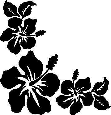 Fiori Hawaiani Disegni.Hawaiian Flowers Stencil Fiori Decorazioni