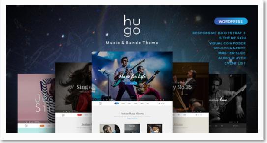 Hugo - #Music / #Artist / #Singers / Bands #Wordpress #themes http ...