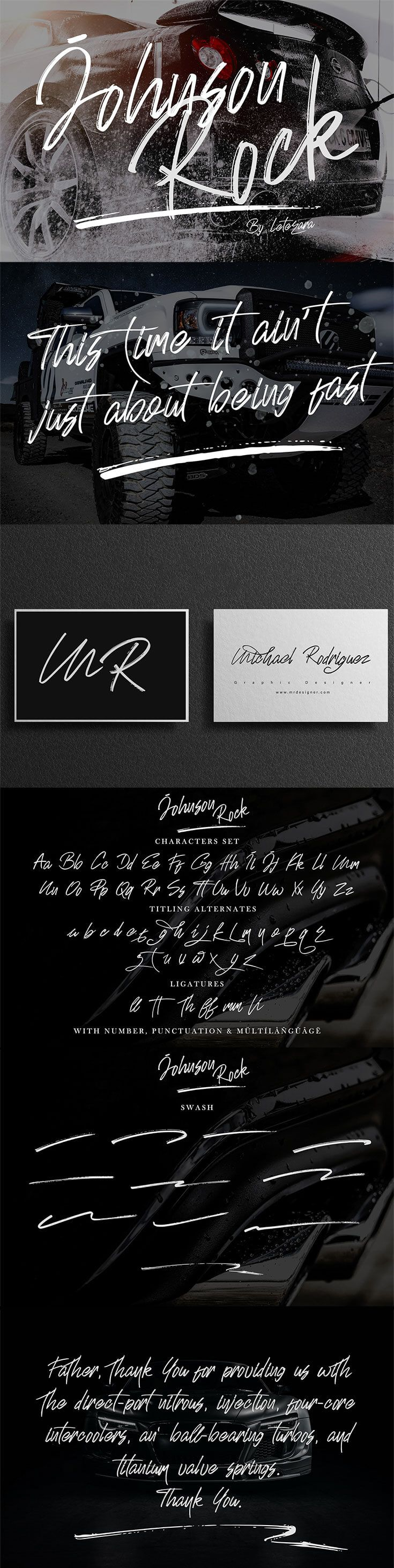 Free Johnson Rock Brush Font Brush font, Stylish text