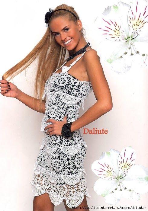 Crochê Gráficos: Lindo vestido