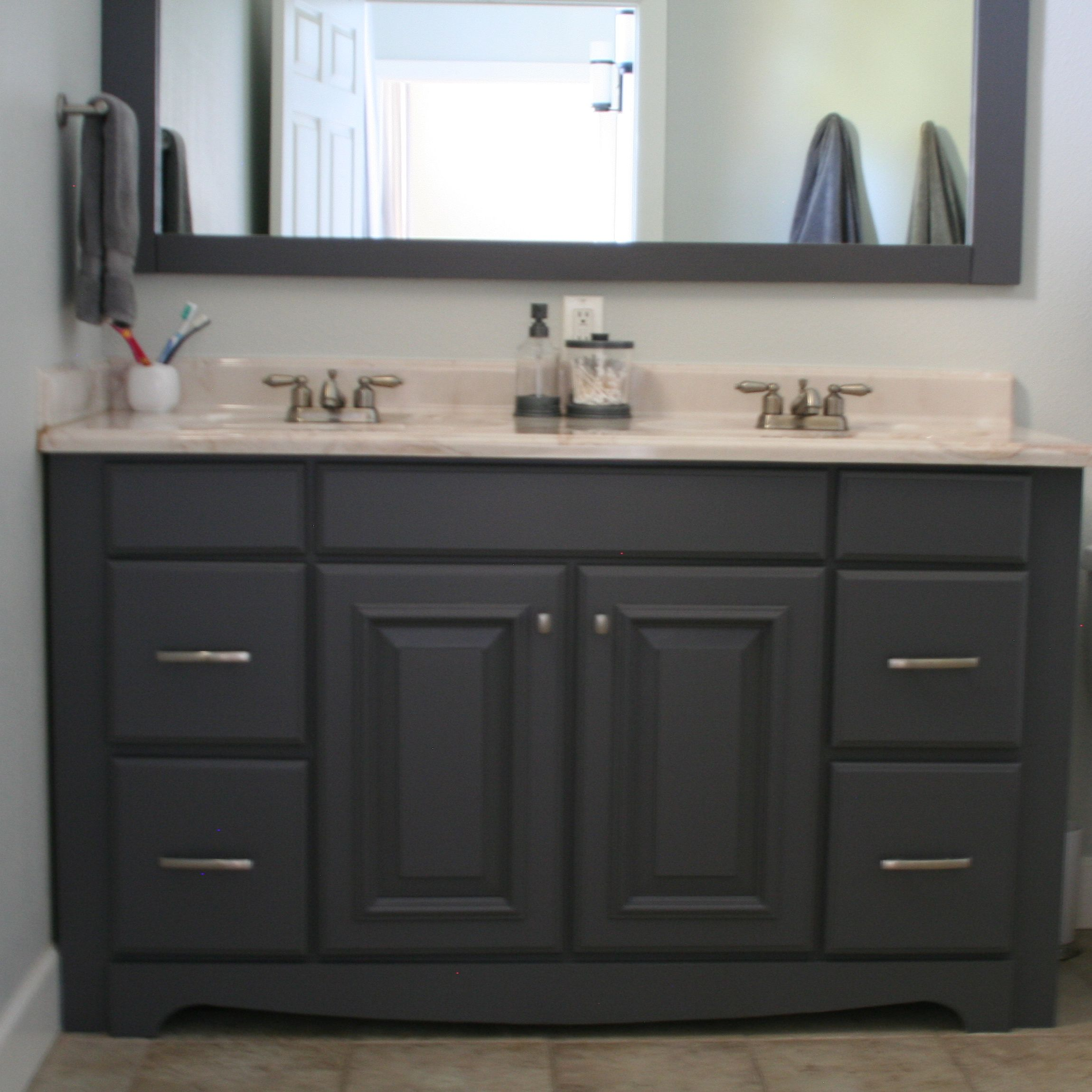 Painting bathroom vanity gray google search brian 39 s master bedroom pinterest painting Master bedroom with bathroom vanity