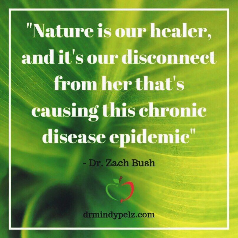 Nature is our healer healthy bacteria health healer