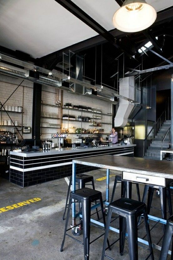 Garage Loft Turned Restaurant Rumah Restoran Kafe