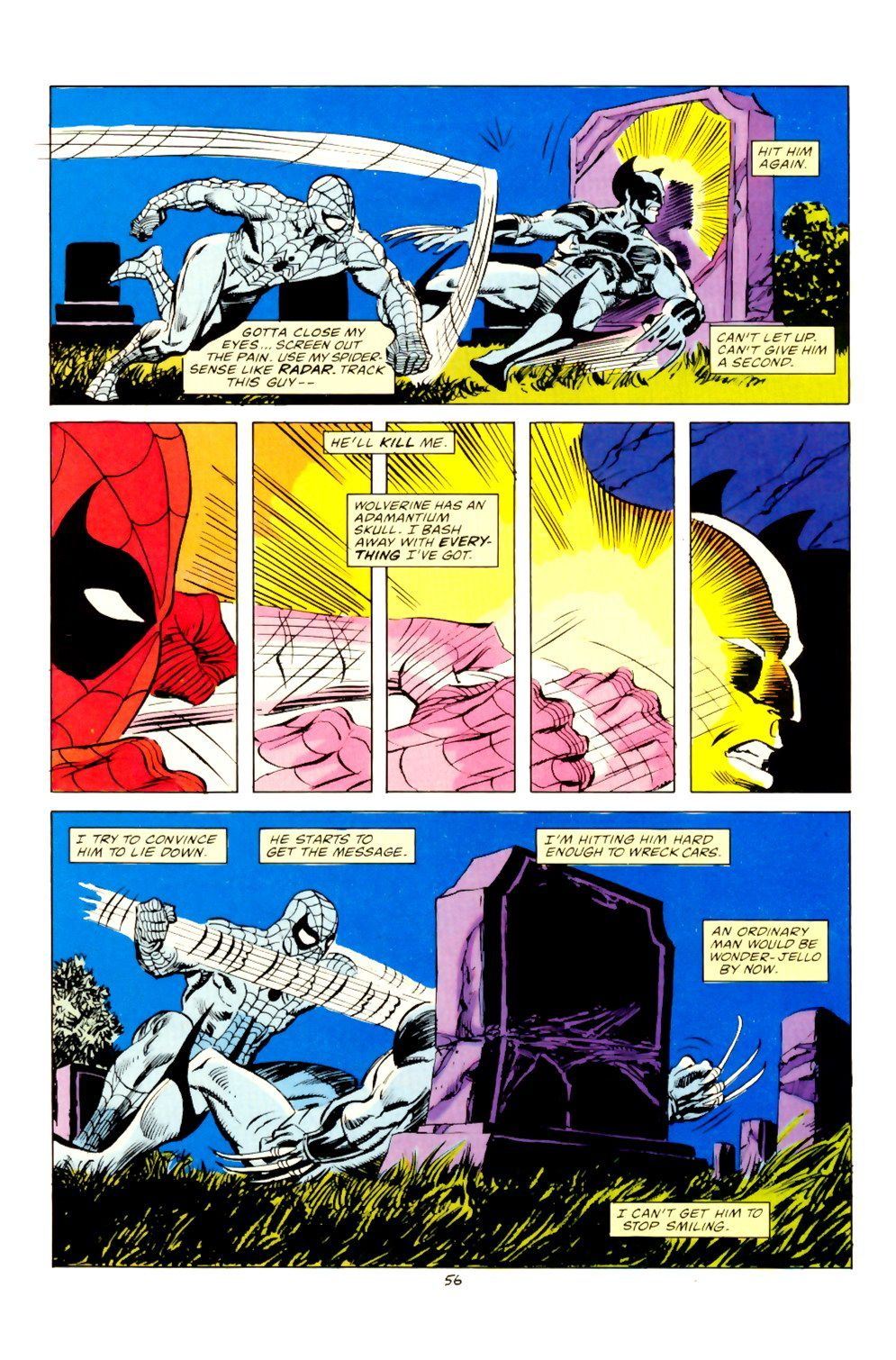 Spider-man VS Wolverine | Panels and a splash of color | Pinterest