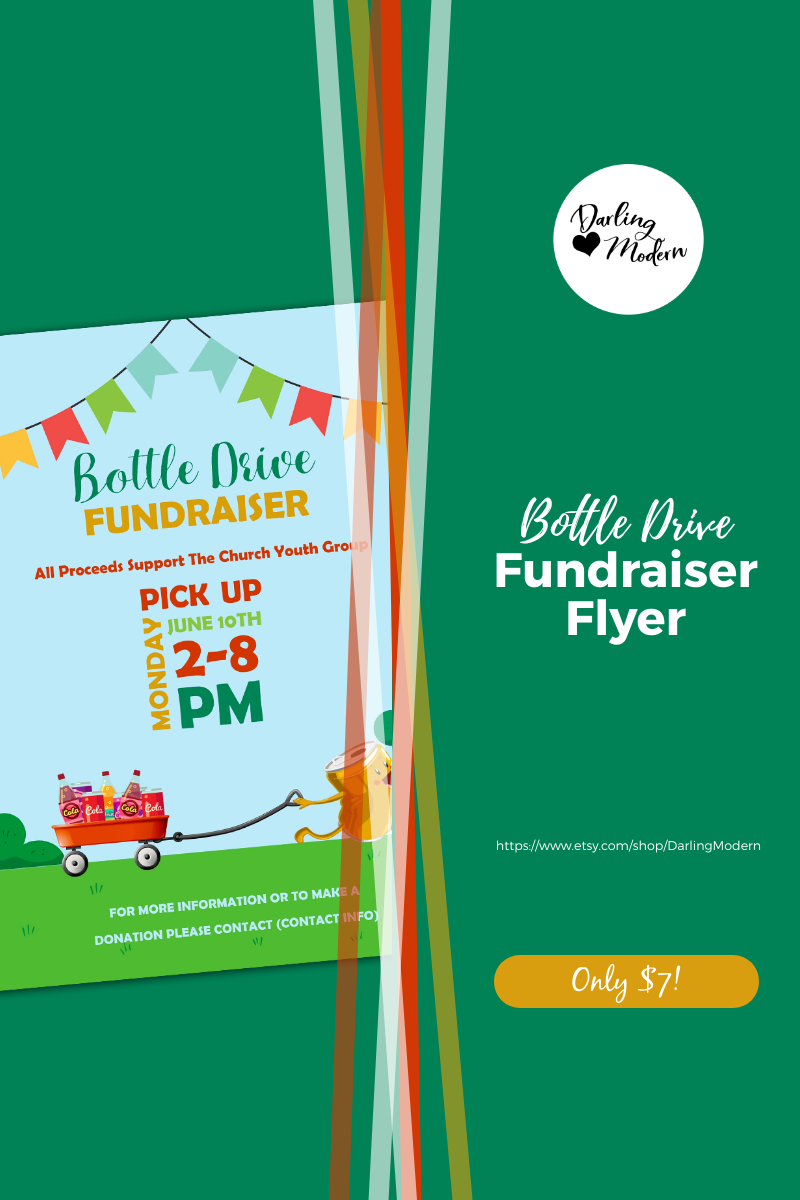EDITABLE Bottle Drive Fundraiser Benefit Flyer/Poster