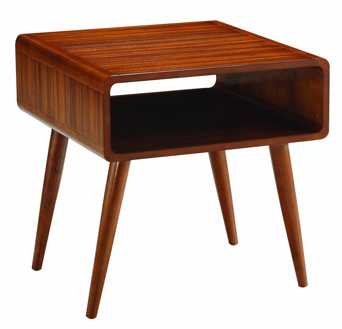 Boraam zebra series alborg end table rich walnut furniture
