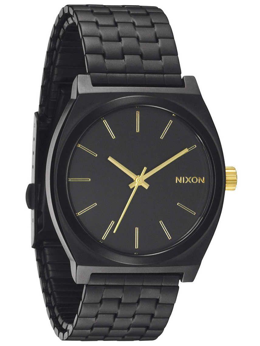 Nixon The Time Teller matte black/gold 99,95 euro - Ri