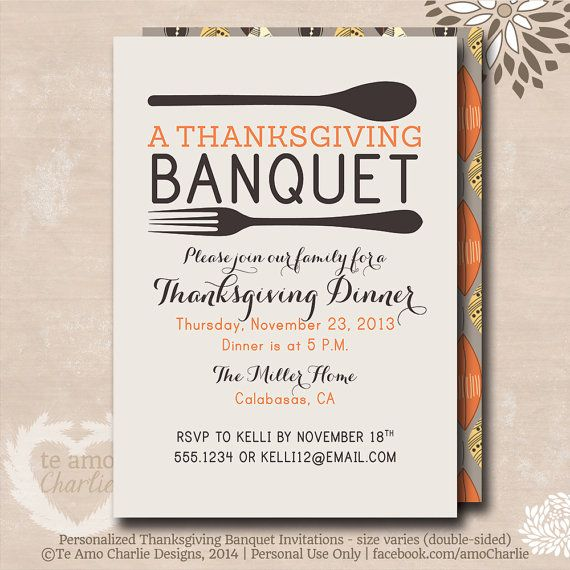 Thanksgiving banquet invitations thanksgivingfall pinterest thanksgiving banquet invitations stopboris Choice Image